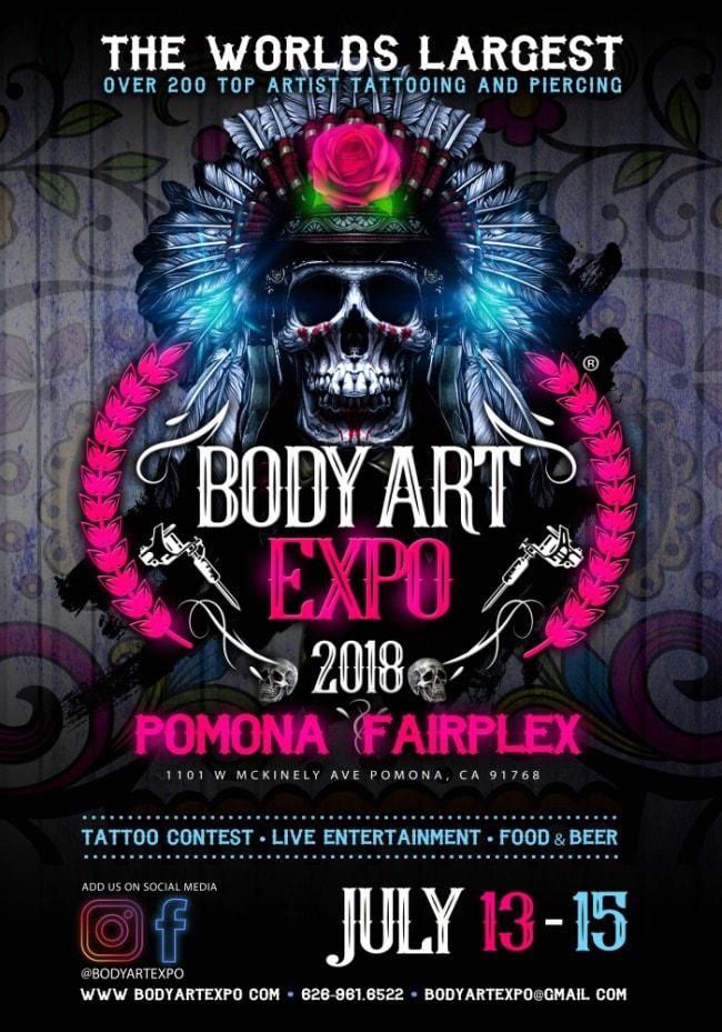 Body Art Expo Pomona Show July 2018