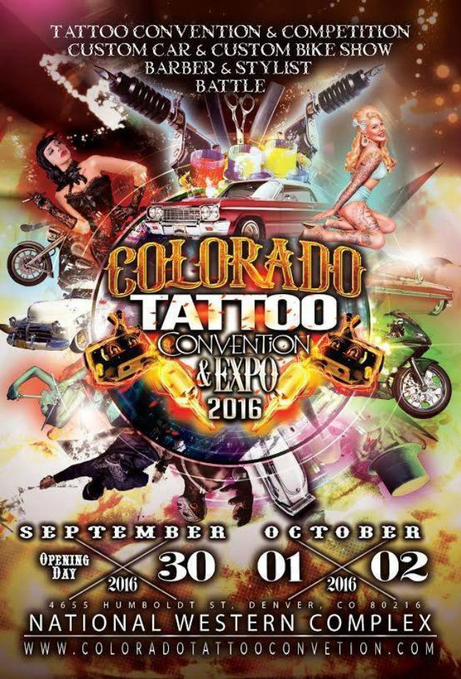 Colorado Tattoo Convention 2016 Poster