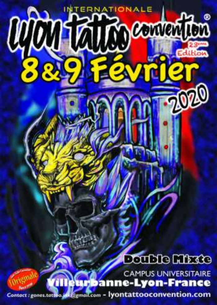 Lyon Tattoo Convention 2020 Poster