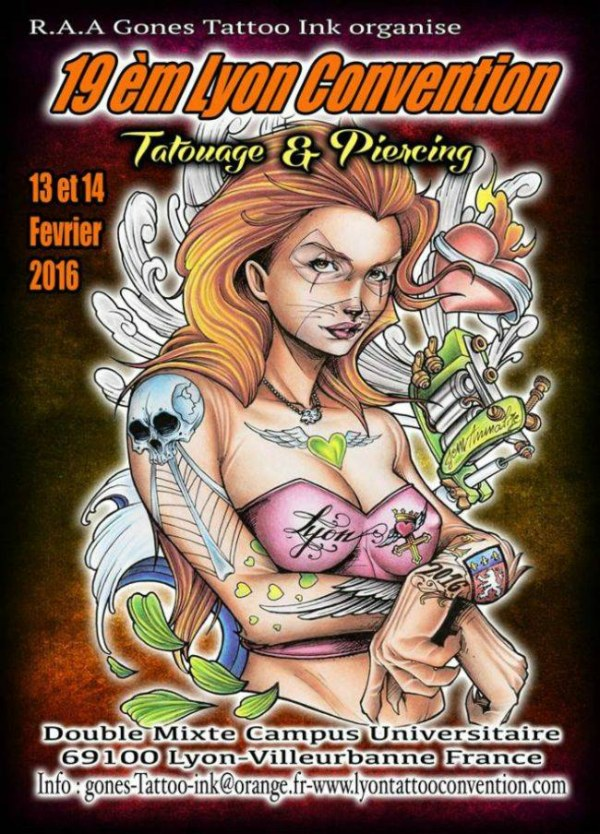 Lyon Tattoo Convention June 2021 France